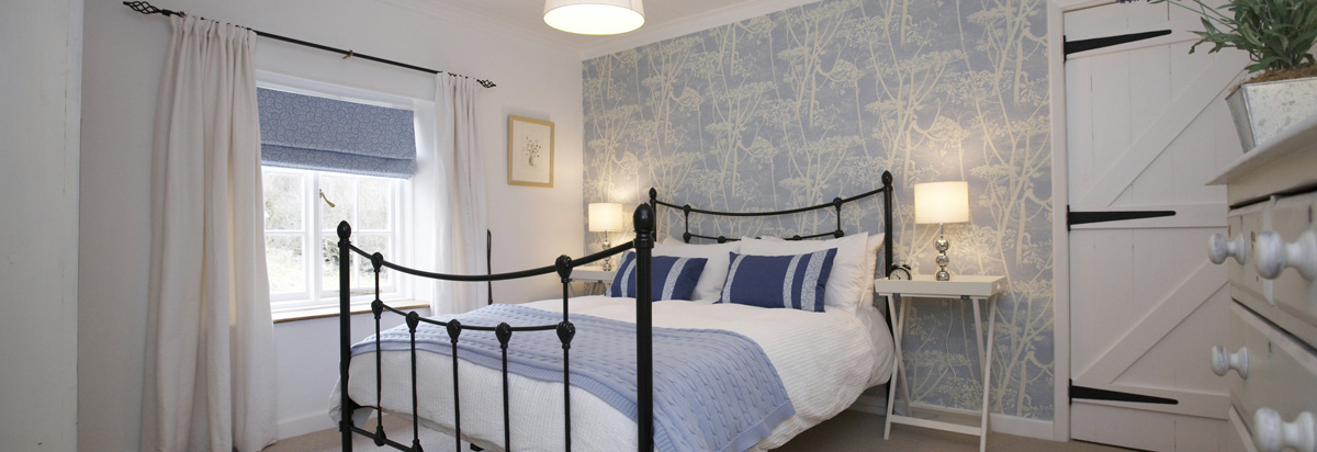 The Cow Parsley Blue Bedroom